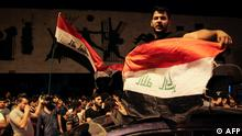 Irak Demonstration auf dem Tahrir Square