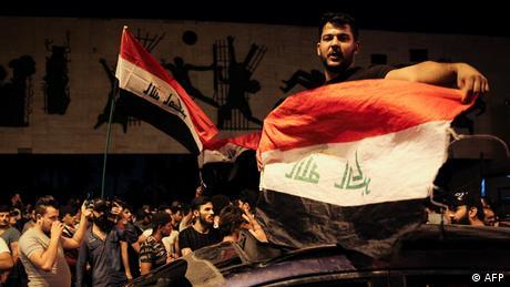 Irak Demonstration auf dem Tahrir Square (AFP)