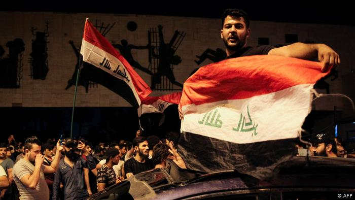 Iraq demonstrations in Tahrir Square, Baghdad