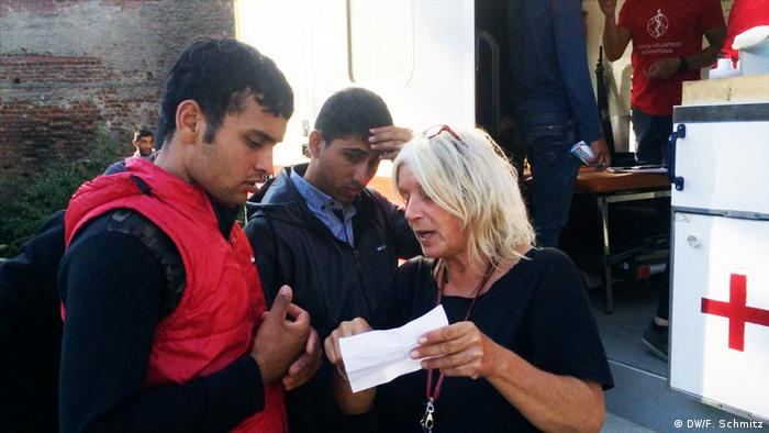 Griechenland Thessaloniki Flüchtlinge | Koordinatorin Rose Hansen (DW/F. Schmitz)