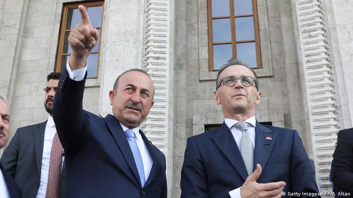 Türkei Ankara Außenminister Cavusoglu und Maas (Getty Images/AFP/A. Altan)