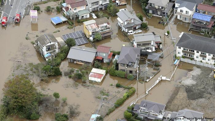 Місто Сакура, затоплене внаслідок проливних дощів у Японії