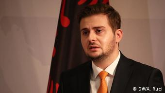 Albanien Tirana Außenminister Gent Cakaj (DW/A. Ruci)