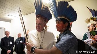 El Papa Francisco durante el Sínodo de la Amazonia.