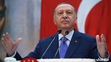 Erdogan während Pressekonferenz