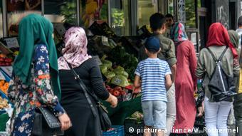 Мусульманские женщины на одной из улиц Берлина