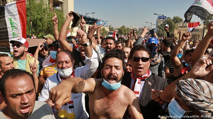 Proteste im Irak (picture-alliance/dpa/AP/H. Mizban)