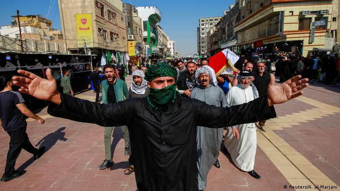 Proteste im Irak (Reuters/A. al-Marjani)