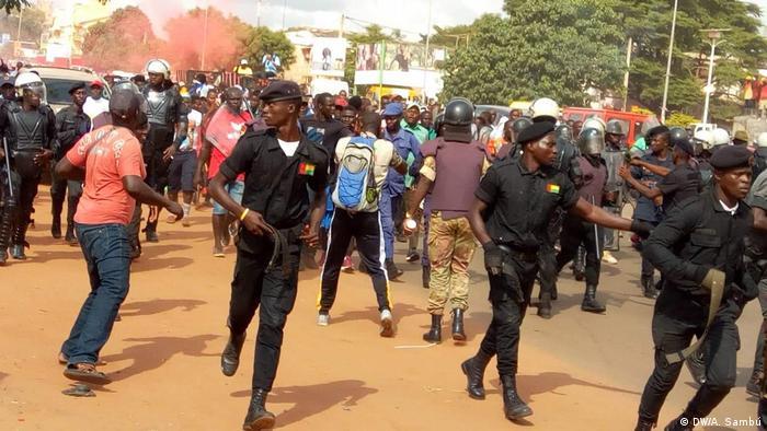 Uma manifestação em Bissau, outubro de 2019