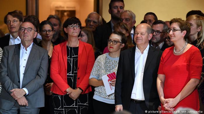 Norbert Walter-Borjans, Saskia Esken, Olaf Scholz and Klara Geywitz