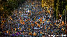 Spanien - Demonstration in Barcelona