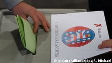 Deutschland Erfurt Landtagswahl in Thüringen