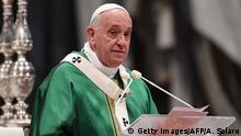 Vatikan Messe mit Papst Franziskus