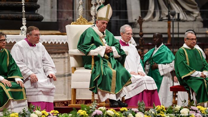 Vatikan Messe mit Papst Franziskus (Getty Images/AFP/A. Solaro)