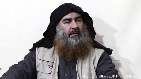Abu Bakr al-Bagdadi (picture-alliance/AP Photo/Al-Furqan)