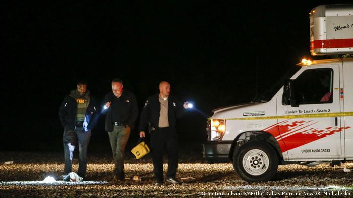 Полиция на месте преступления в Гринвилле