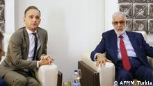 Libyen Heiko Maas und Taher Siala (AFP/M. Turkia)