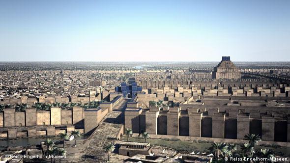 Древний Вавилон: анимация показывает, как выглядели ворота богини Иштар (оригинал ныне хранится в берлинском музее Пергамон). По этой улице Александ прошел как триумфатор