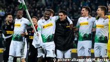 Deutschland Bundesliga Borussia Mönchengladbach gegen Eintracht Frankfurt | Jubel Marcus Thuram
