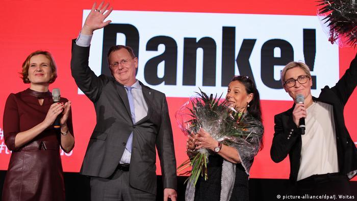 Deutschland Landtagswahl in Thüringen - Linke (picture-alliance/dpa/J. Woitas)