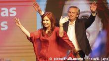 Argentinien Christina Fernandez und Alberto Fernadez in Buenos Aires