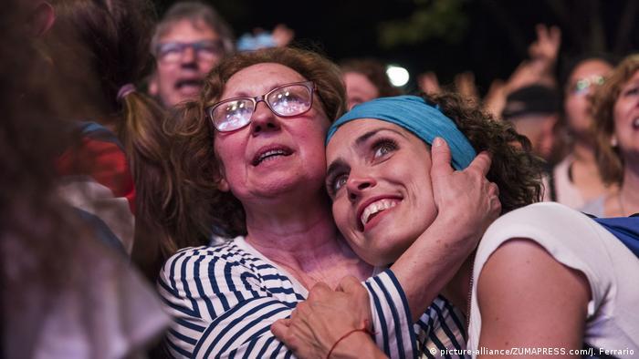 Argentinien Wahl 2019 Wahlabend in Buenos Aires (picture-alliance/ZUMAPRESS.com/J. Ferrario)
