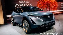 The Nissan ARIYA Concept on display at Tokyo Motor Show 2019 in Tokyo International Exhibition Center, Japan on October 23, 2019. PUBLICATIONxINxGERxSUIxAUTxHUNxONLY 115072737