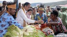 Indonesien Präsident Joko Widodo besucht Papua