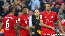 Soccer Football - Bundesliga - Bayern Munich v 1. FC Union Berlin - Allianz Arena, Munich, Germany - October 26, 2019 Bayern Munich's Thomas Muller REUTERS/Michael Dalder DFL regulations prohibit any use of photographs as image sequences and/or quasi-video