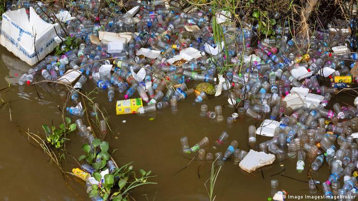 Muy a menudo, los desechos plásticos terminan en el medio ambiente.