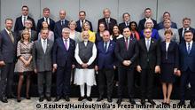 Indien Treffen Premierminister Narendra Modi mit EU Delegation in Neu-Delhi