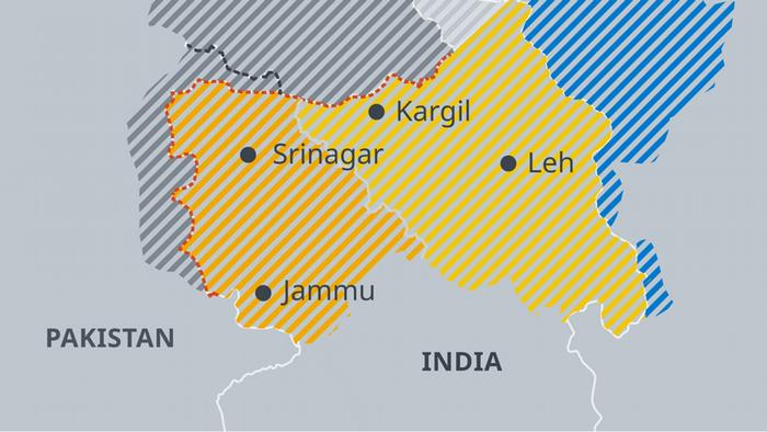 Infografik Karte Grenzen in Pakistan EN