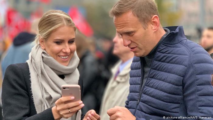 Navalny with ally Lyubov Sobol