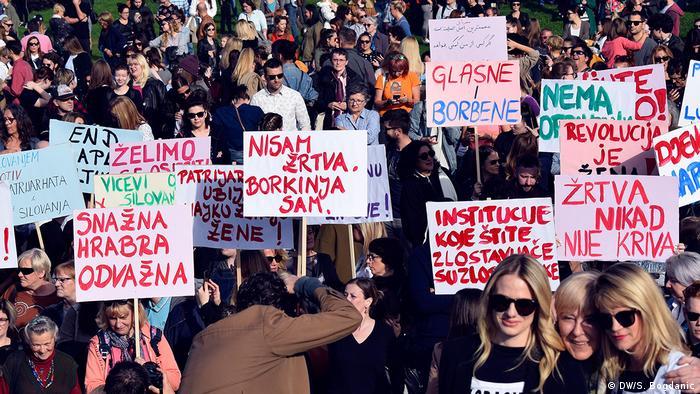 Kroatien Frauenproteste in Zagreb (DW/S. Bogdanic)