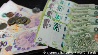 Argentinischer Peso (picture-alliance/NurPhoto/G. Sutelo)