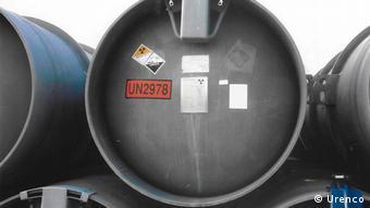 Контейнеры для перевозки ядерных отходов компании Urenco Deutschland