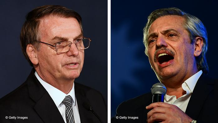 Jair Bolsonaro e Alberto Fernández