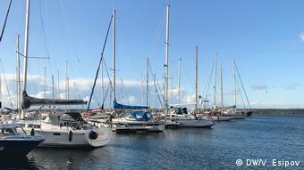 Яхтенный порт Любмин в нескольких сотнях метров от объектов Северного потока
