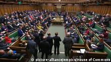 Brexit. Members listen to Prime Minister Boris Johnson speak during the election debate ahead of the vote in the House of Commons, London. Picture date: Monday October 28, 2019. See PA story POLITICS Brexit. Photo credit should read: House of Commons/PA Wire URN:47941612  