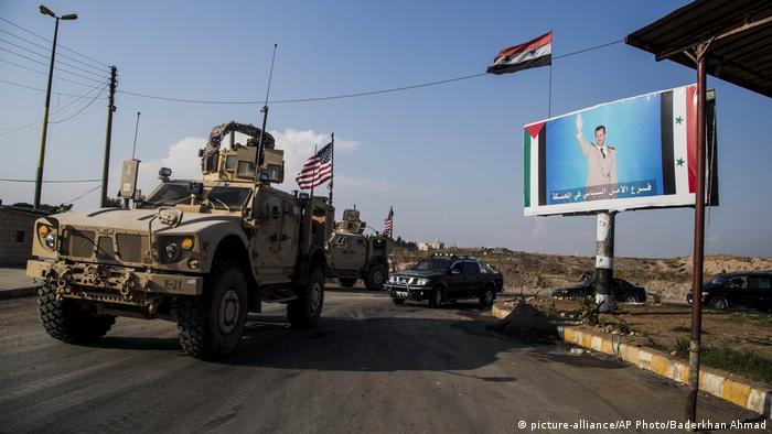 Syrien US-Militärkonvoi nahe der Stadt Qamishli
