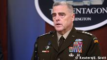 U.S. Joint Chiefs Chairman General Mark Milley addresses reporters during a media briefing at the Pentagon in Arlington, Virginia, U.S., October 11, 2019. REUTERS/Erin Scott