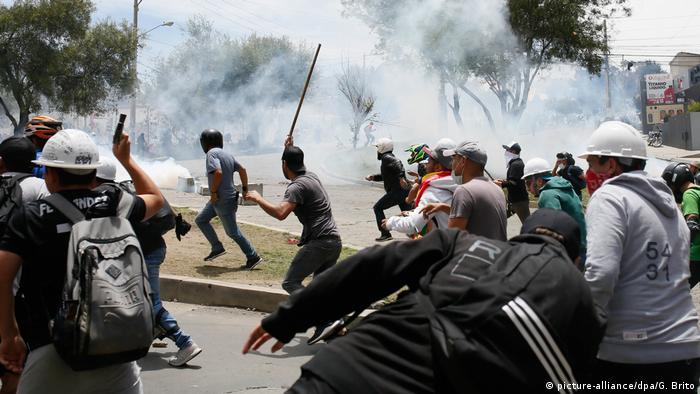 Protestas en Bolivia después de las elecciones. (28.10.2019).