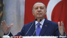 Türkei Rede von Präsident Erdogan während einer Zeremonie in Istanbul.