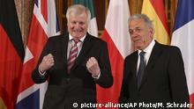 Deutschland Treffen der EU Innenminister Horst Seehofer mit Dimitris Avramopoulos