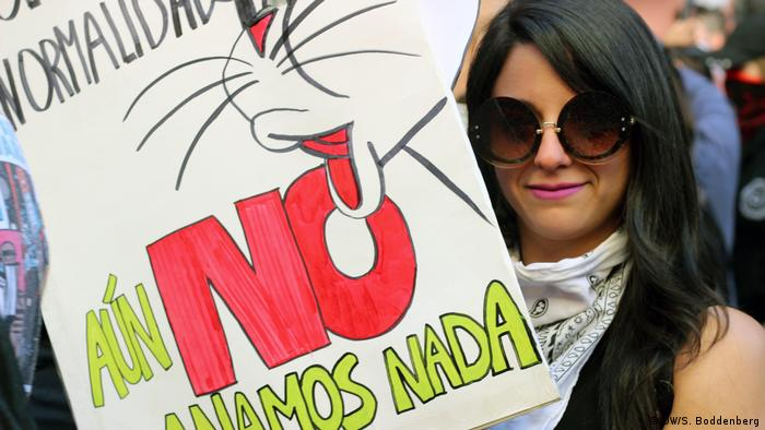 Ariela Contreras is protesting against 30 years of abuse of power