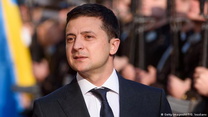 Wolodymyr Selenskyj ukrainischer Präsident (Getty Images/AFP/G. Ivuskans)