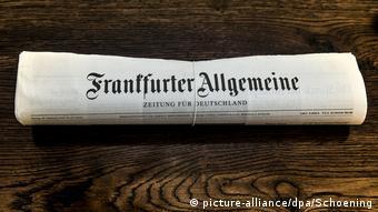 Газета Frankfurter Allgemeine Zeitung