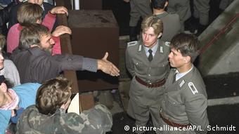 Deutschland Berlin Grenzöffnung 1989