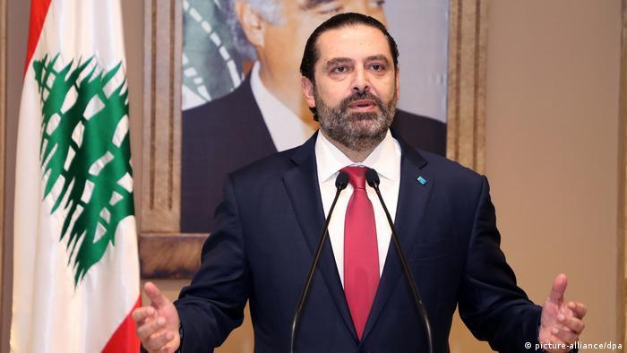Libanon PK Premierminister Saad al-Hariri in Beirut (picture-alliance/dpa)