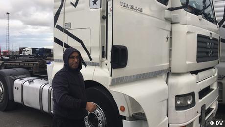 Unul din sutele de mii de şoferi profesionişti, care străbat zilnic Europa